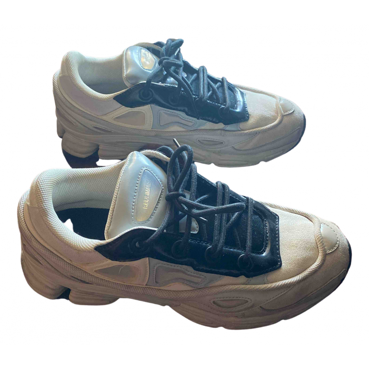Raf Simons - Baskets   pour homme en toile - blanc
