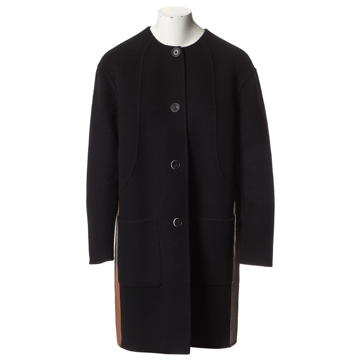 Fendi \N Black Wool coat for Women 42 IT