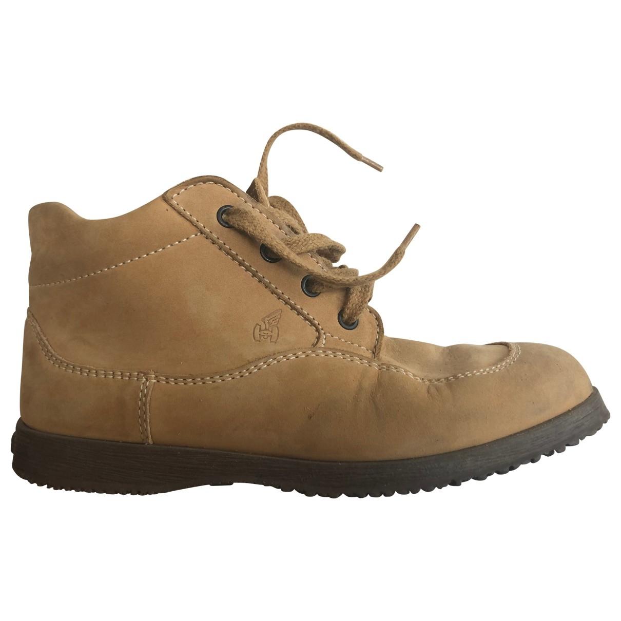 Hogan \N Beige Suede Ankle boots for Women 37 EU