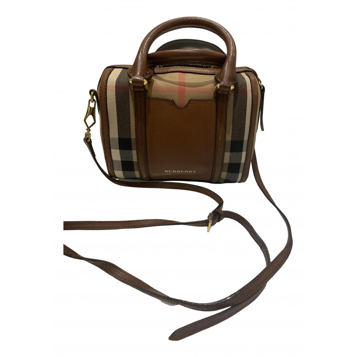 Burberry \N Handtasche in  Beige Baumwolle