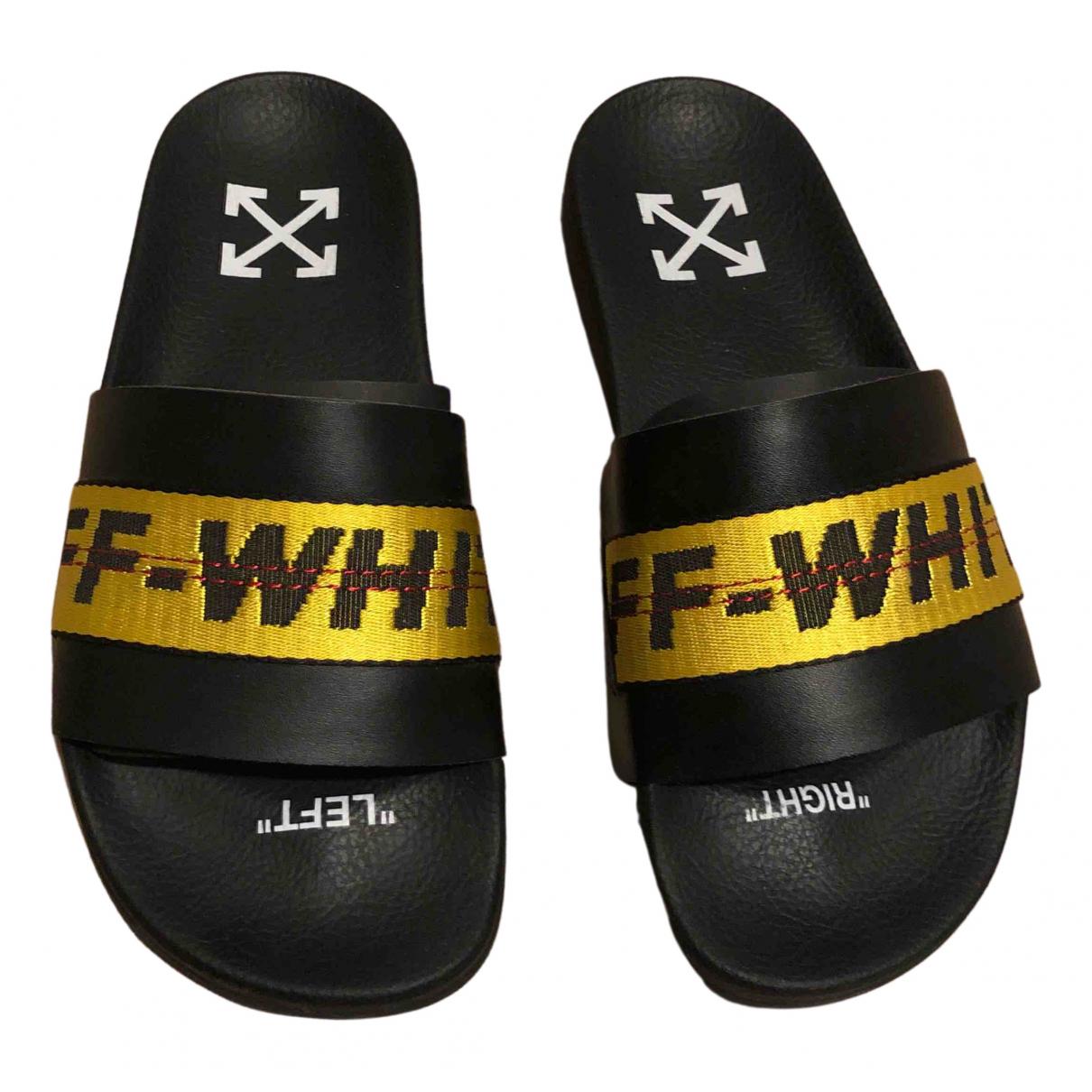 Off-white - Sandales   pour femme en caoutchouc - noir
