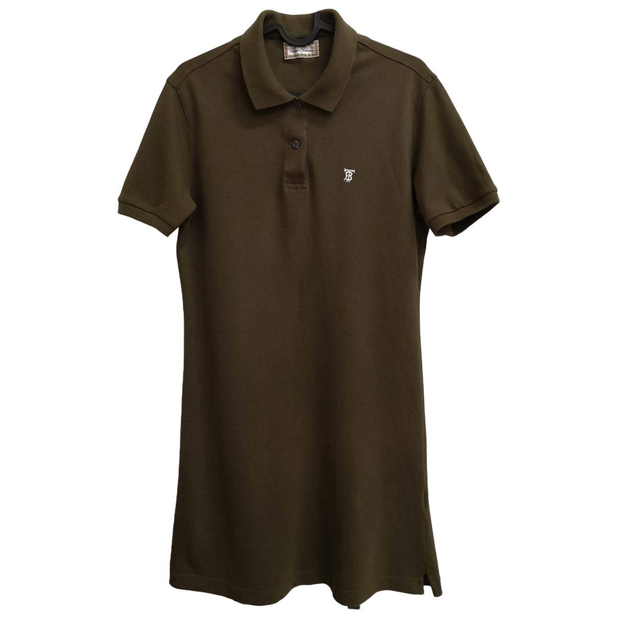 Burberry \N Kleid in  Khaki Baumwolle - Elasthan