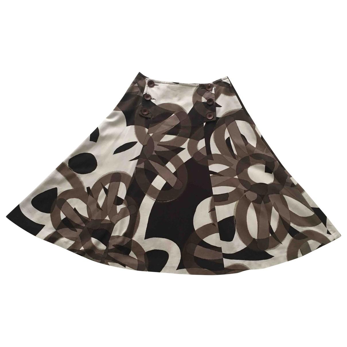 Max Mara \N Brown Cotton skirt for Women 40 IT