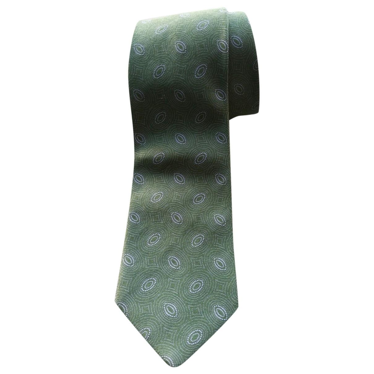 Carven \N Green Silk Ties for Men \N