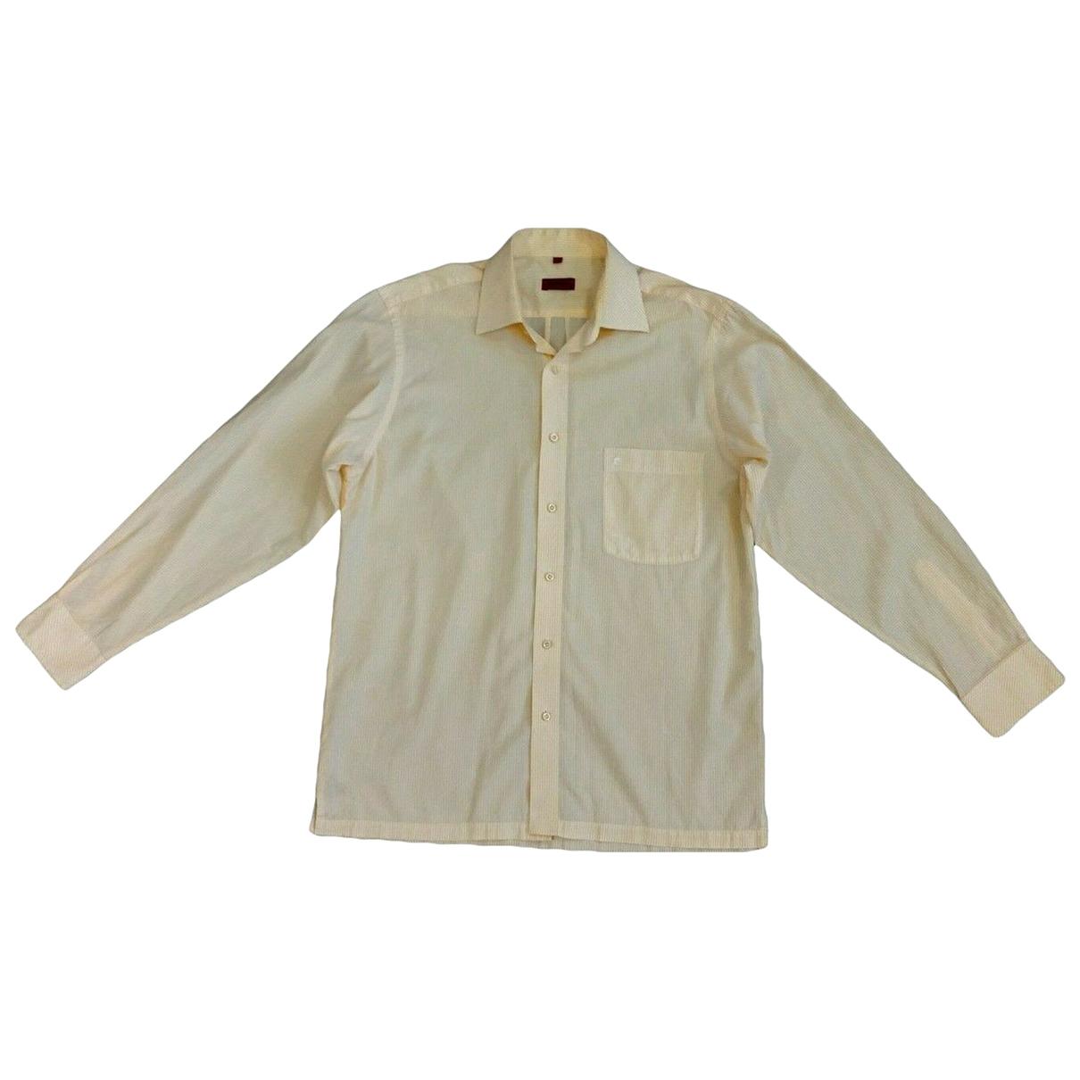 Pierre Cardin - Chemises   pour homme en coton - jaune