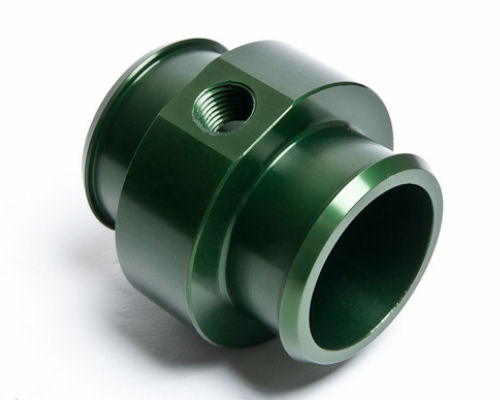 Radium Engineering 14-0062 Green Barb Adapter for 1.75 inch ID Hose with .25NPT Port