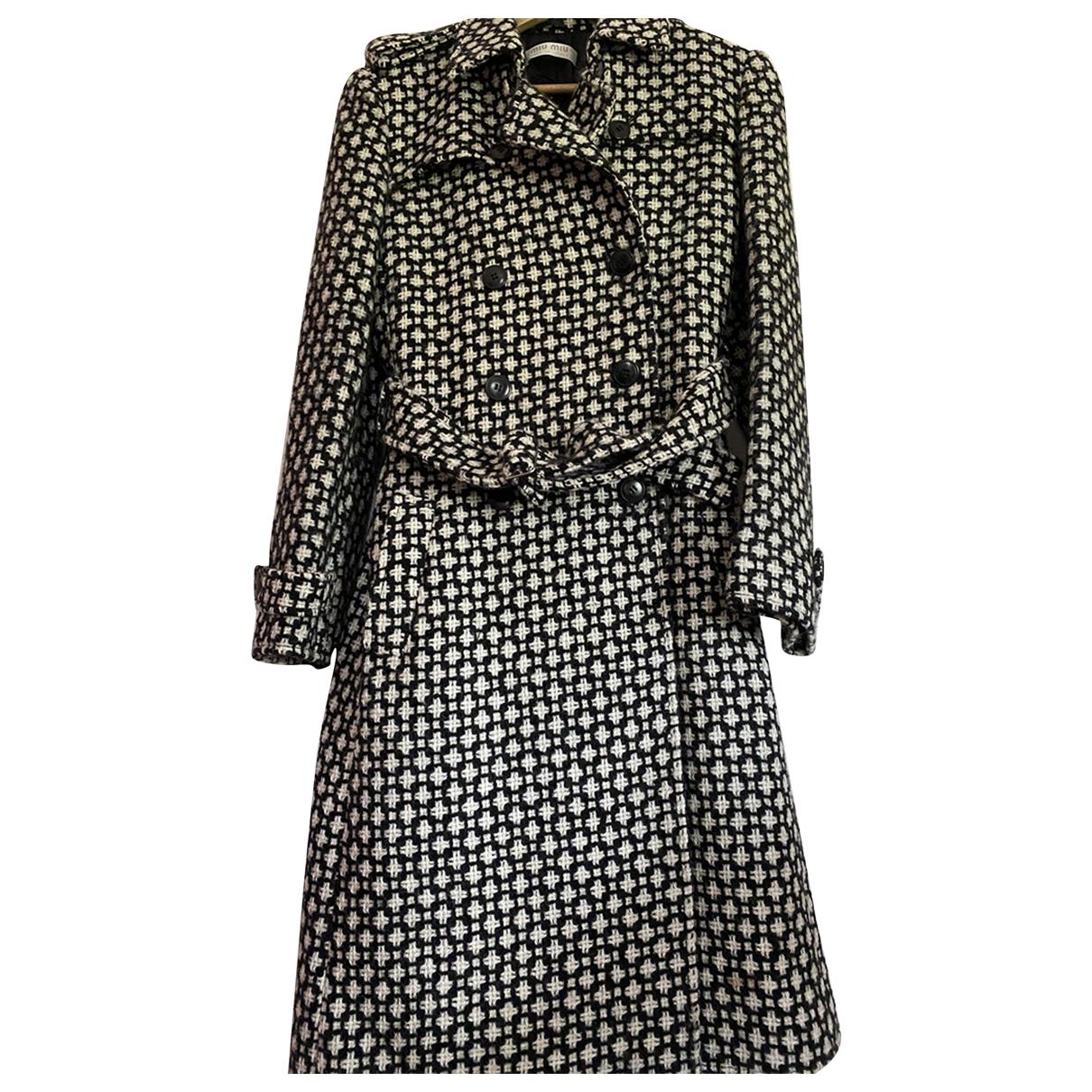 Miu Miu \N Black Wool coat for Women 46 FR