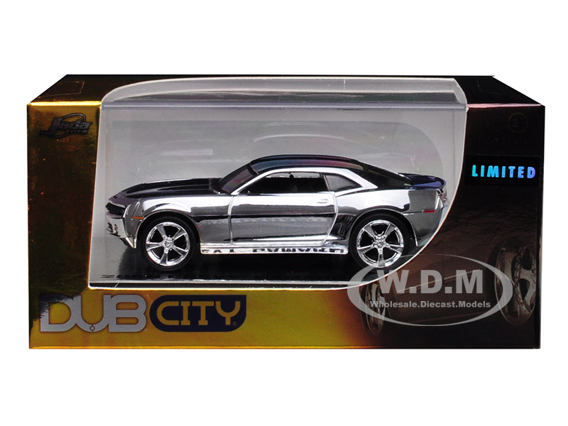 2006 Chevrolet Camaro Concept Chrome Silver Dub City Limited Edition 1/64 Diecast Model Car by Jada