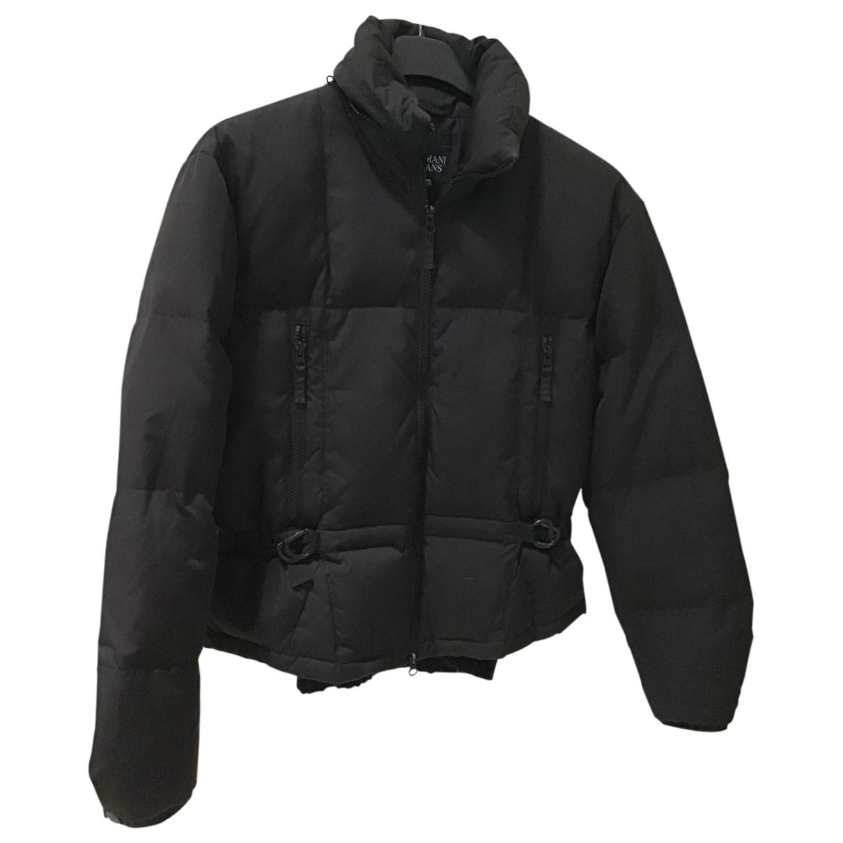 Armani Jeans \N Black jacket for Women 38 IT