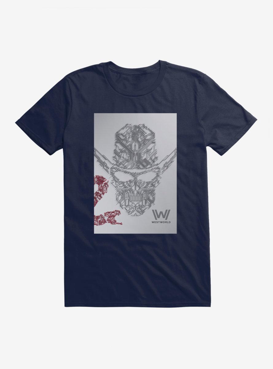 Westworld Man In Black Skull T-Shirt