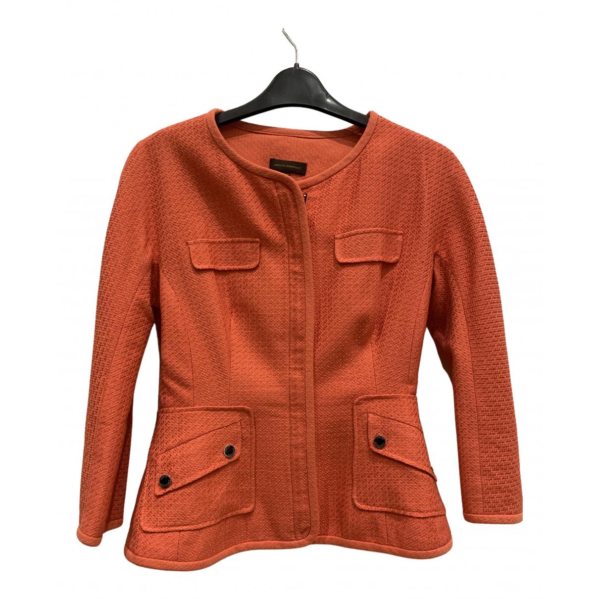 Adolfo Dominguez \N Jacke in  Orange Baumwolle