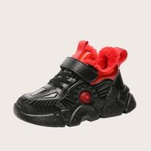Zapatillas deportivas calientes gruesas anchas de niños