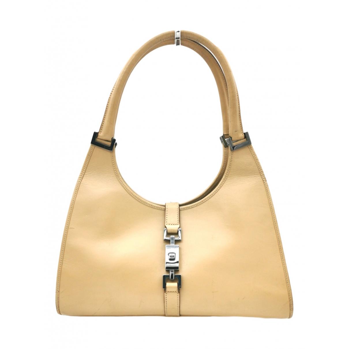 Gucci Jackie Vintage  Handtasche in  Beige Leder