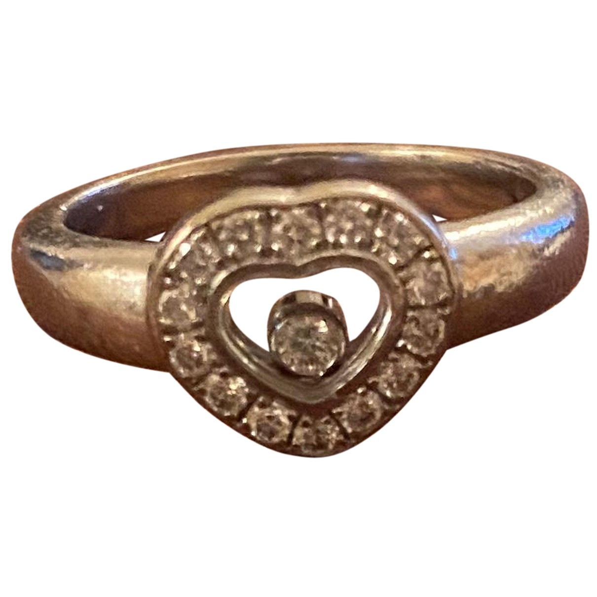 Chopard - Bague Happy Diamonds pour femme en or blanc - argente