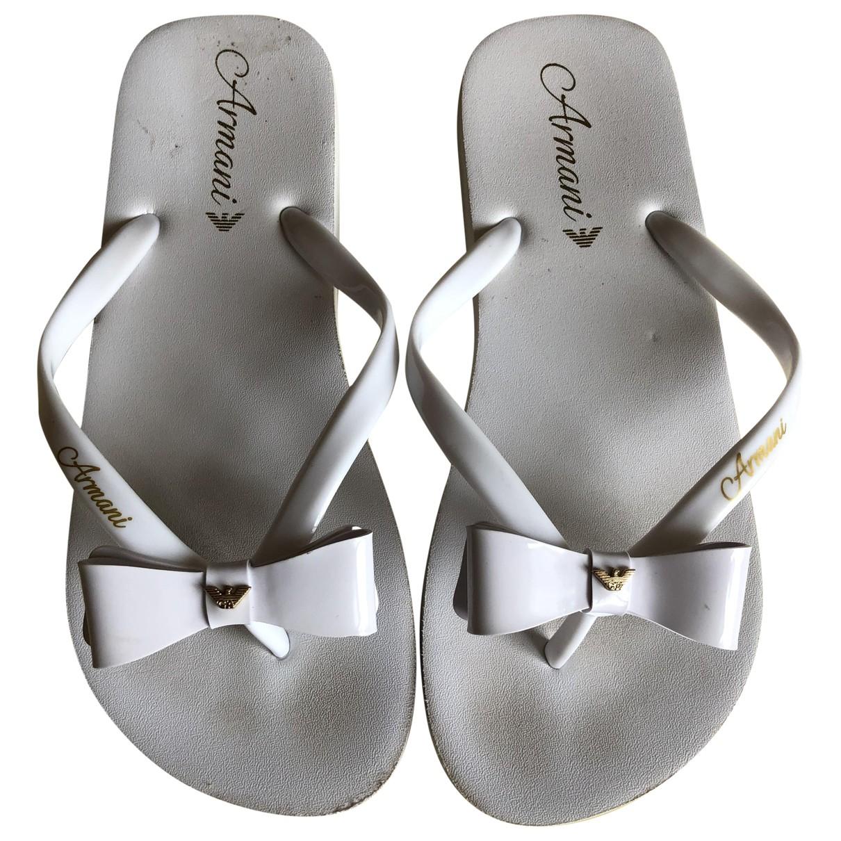 Armani Jeans \N White Rubber Sandals for Women 36 EU