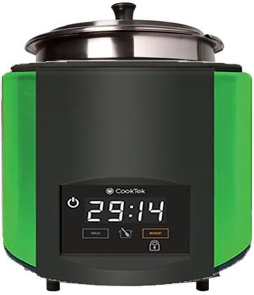 676201-GREEN SinAqua 11 Qt. Freestanding Souper with 800 Watts Induction Heating  240 Volts  Pan Compensation Technology and Capacitive Touch Control