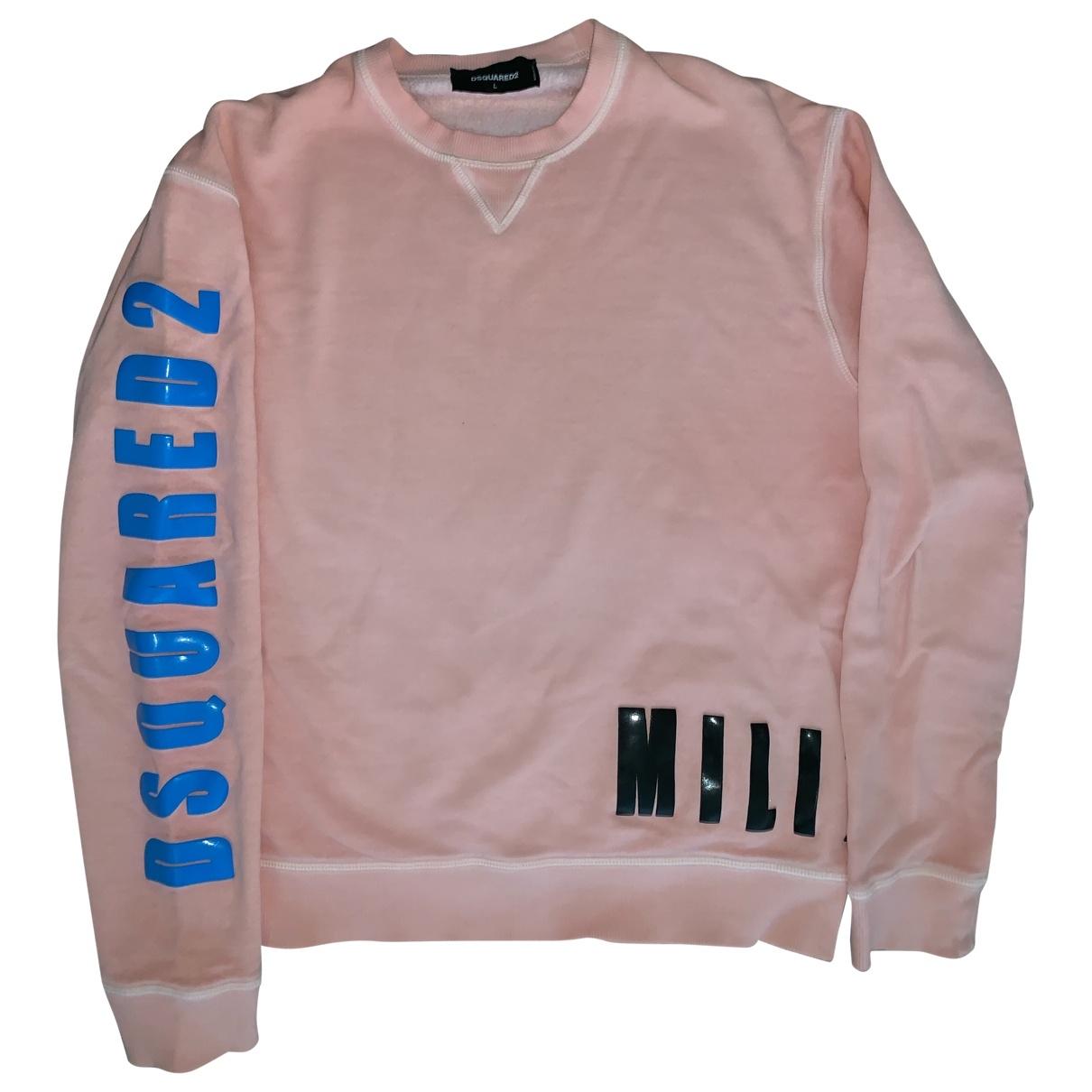 Dsquared2 \N Pink Cotton Knitwear & Sweatshirts for Men 40 UK - US