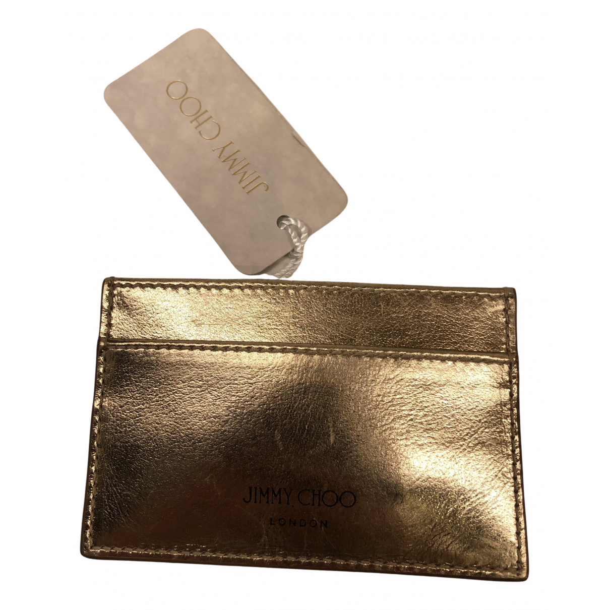 Jimmy Choo N Gold Leather Purses, wallet & cases for Women N