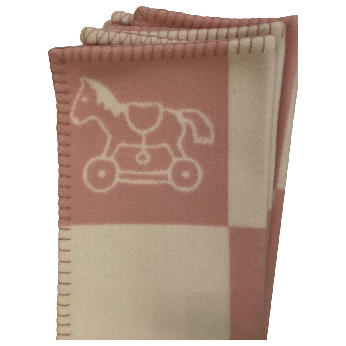 Hermès \N Pink Wool Textiles for Life & Living \N