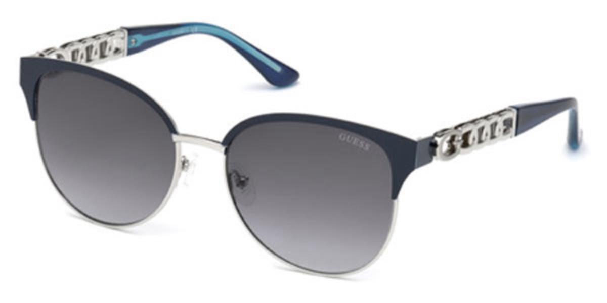Guess GU 7572 90B Women's Sunglasses Black Size 57