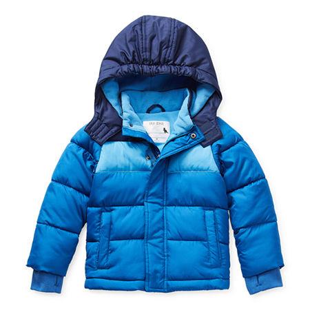 Okie Dokie Toddler Boys Hooded Water Resistant Heavyweight Puffer Jacket, 2t , Blue