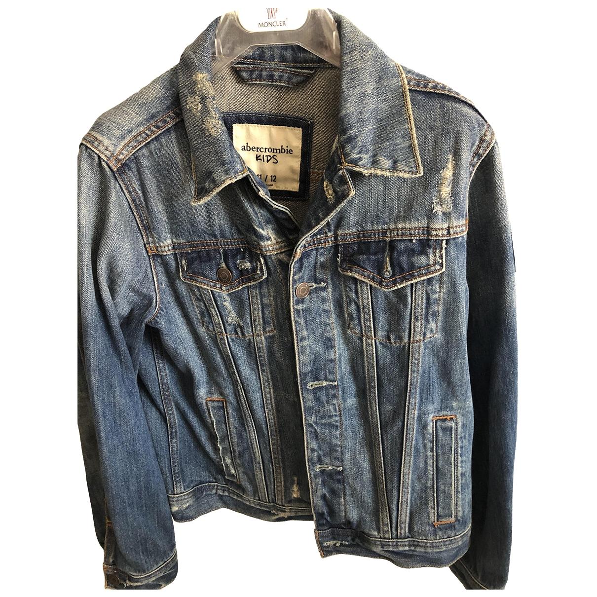 Abercrombie & Fitch \N Jacke, Maentel in  Blau Denim - Jeans
