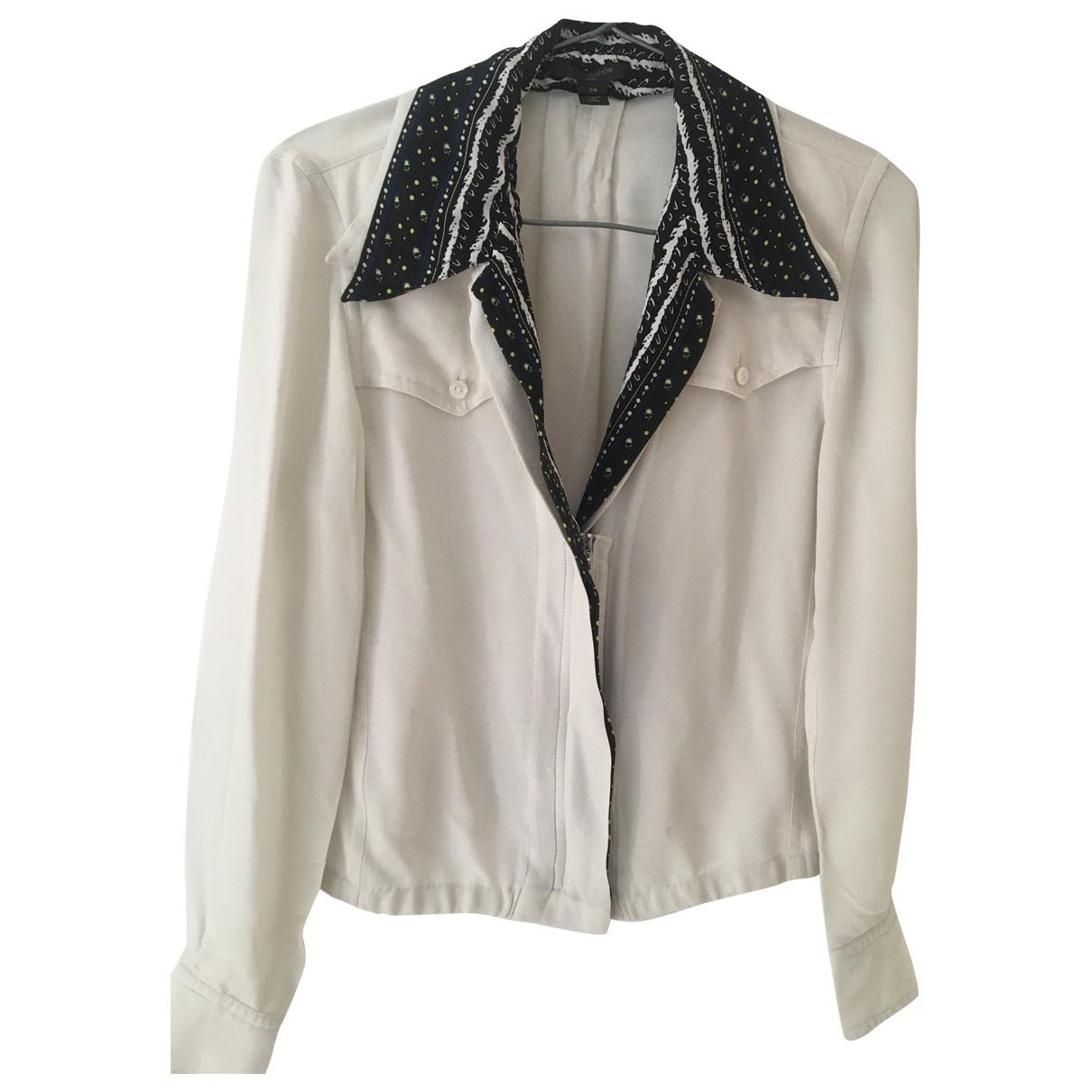 Louis Vuitton - Top   pour femme en soie - blanc