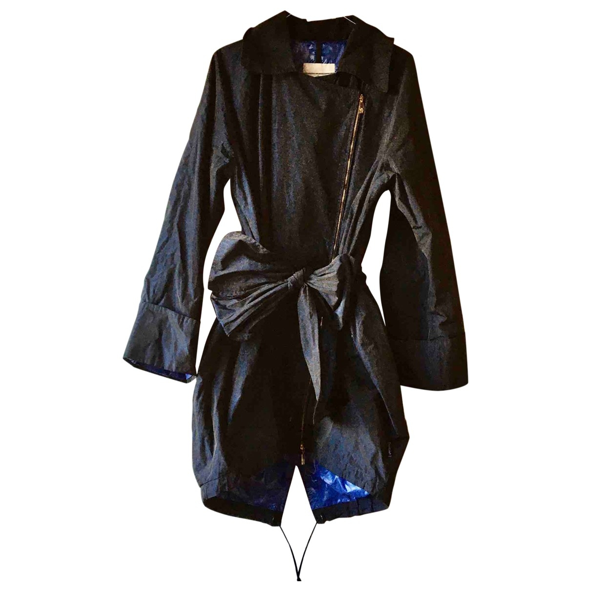 Moncler \N Trench in  Blau Polyester