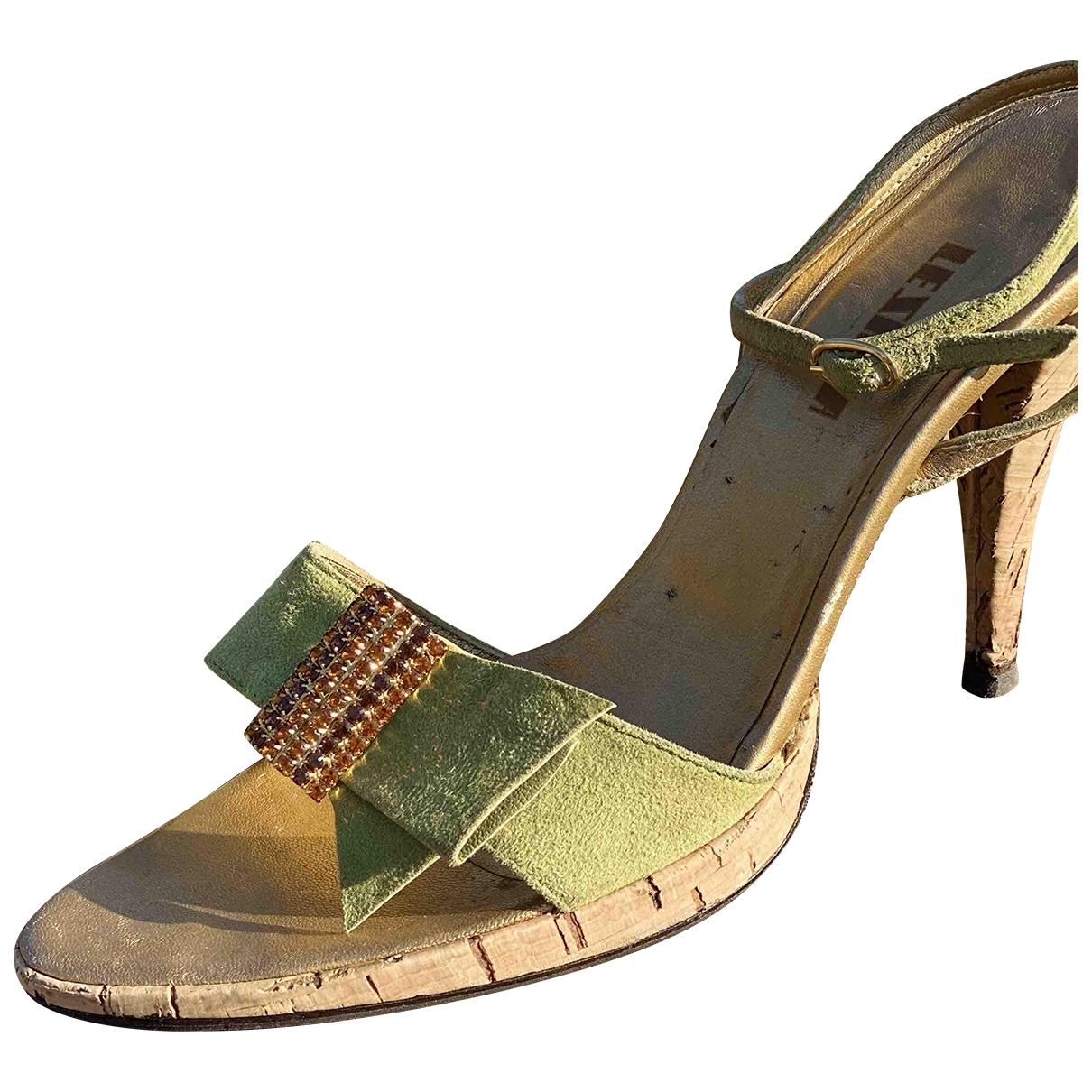 Le Silla - Sandales   pour femme en suede - vert