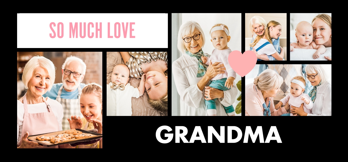 Baby + Kids 11 oz. Light Blue Accent Mug, Gift -Grandma Heart