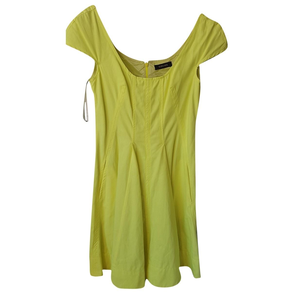 Versace - Robe   pour femme en coton - vert