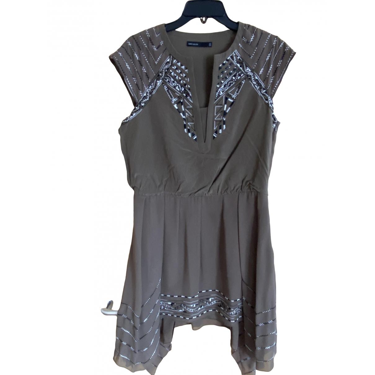 Karen Millen \N Kleid in  Khaki Seide