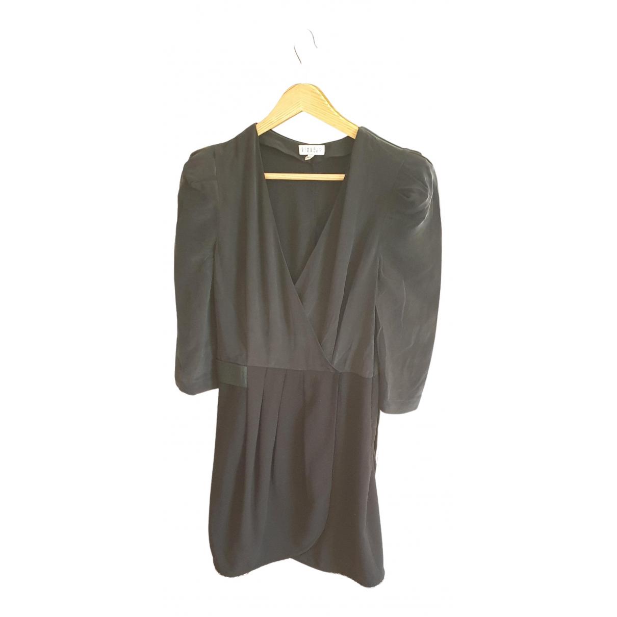 Claudie Pierlot - Robe   pour femme en soie - noir