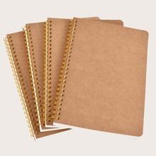 1pc Kraft Paper Cover Spiral Notebook