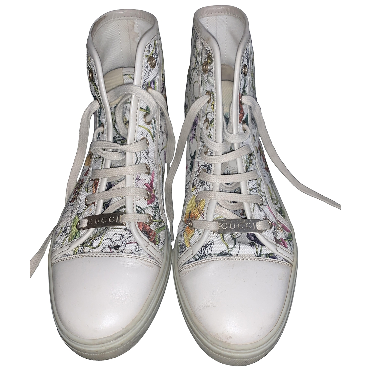 Gucci \N Sneakers in  Bunt Leinen