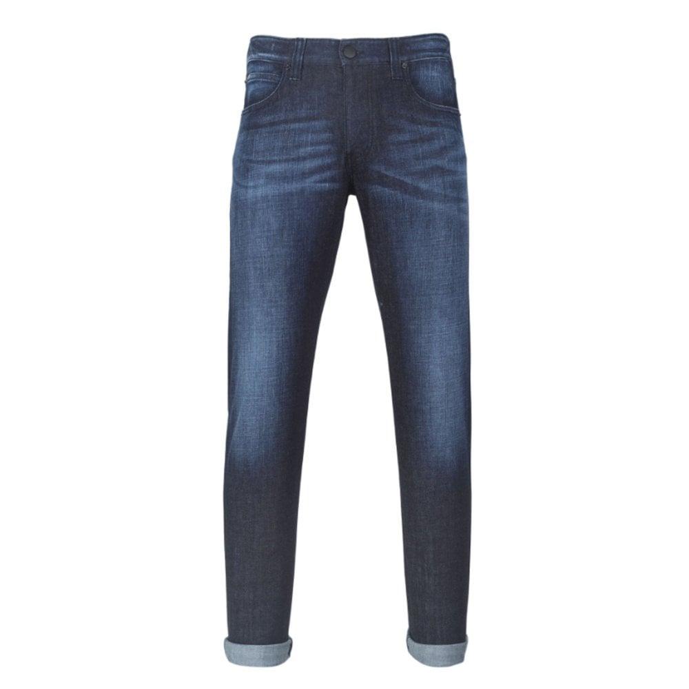 Armani Collezioni Dark Blue Jeans Colour: BLUE, Size: 32 34