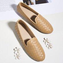 Loafers mit runder Zehenpartie