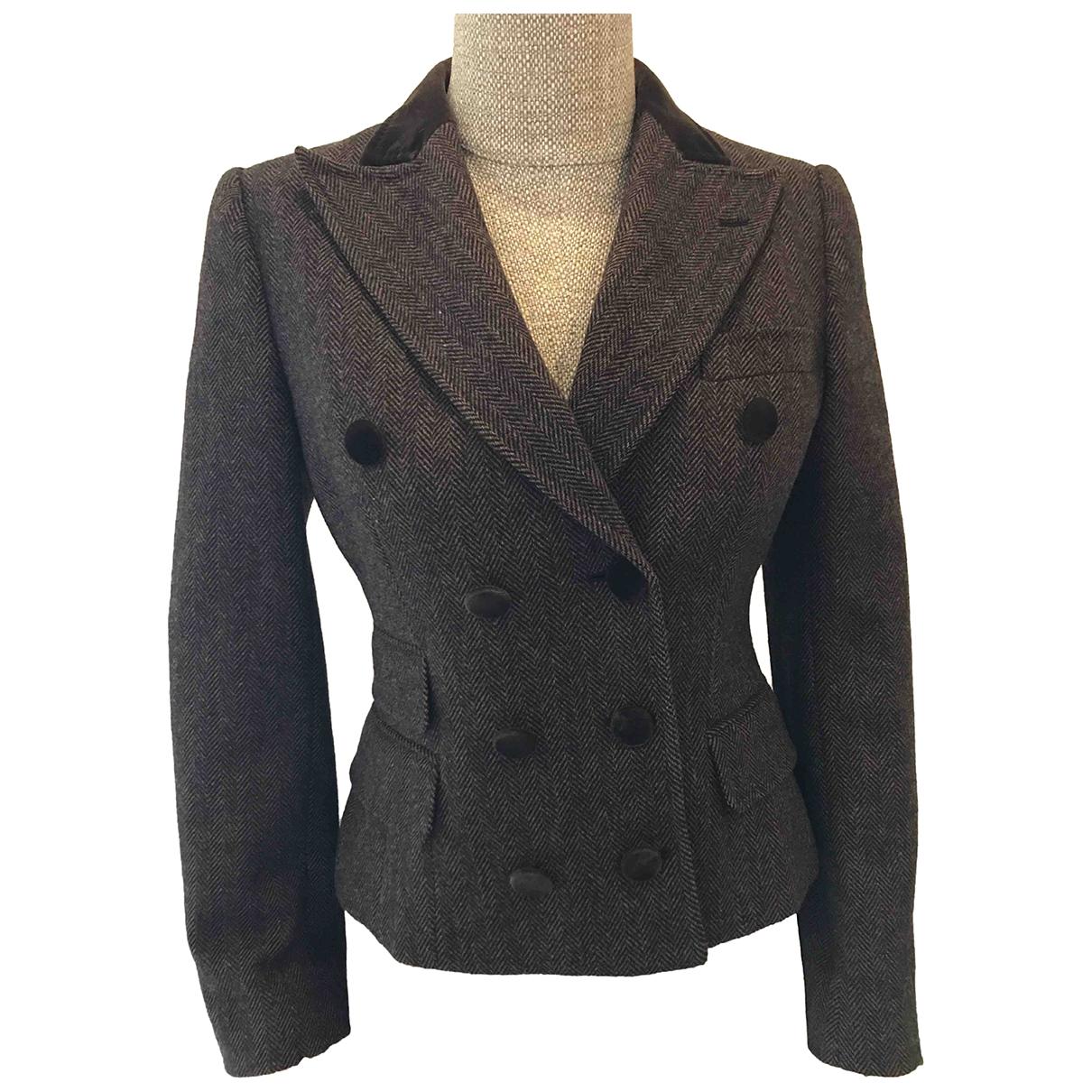 Dolce & Gabbana - Veste   pour femme en laine - marron