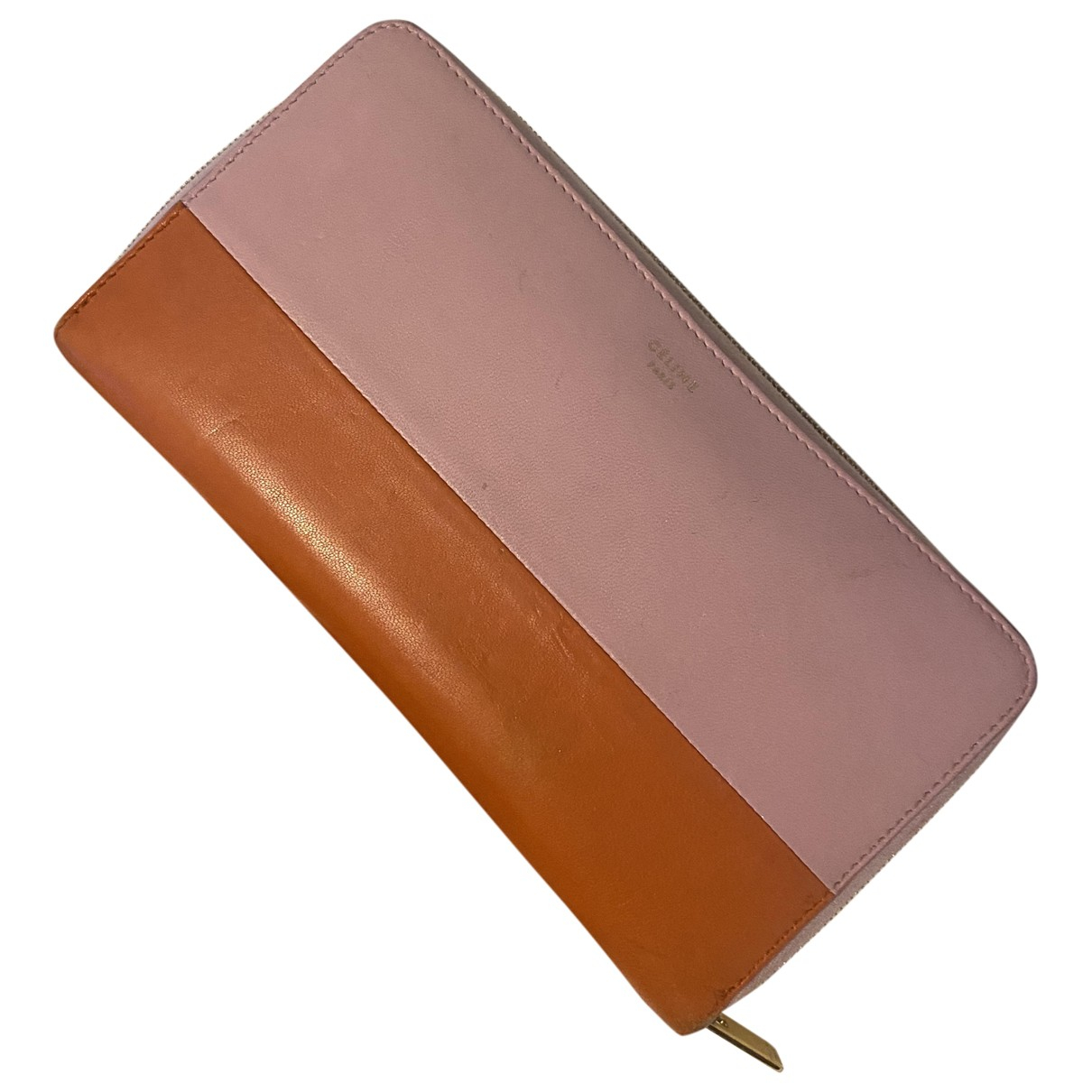 Celine - Portefeuille   pour femme en cuir - rose