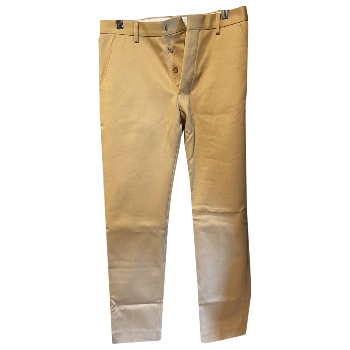 Ami \N Gold Cotton Trousers for Men 36 FR