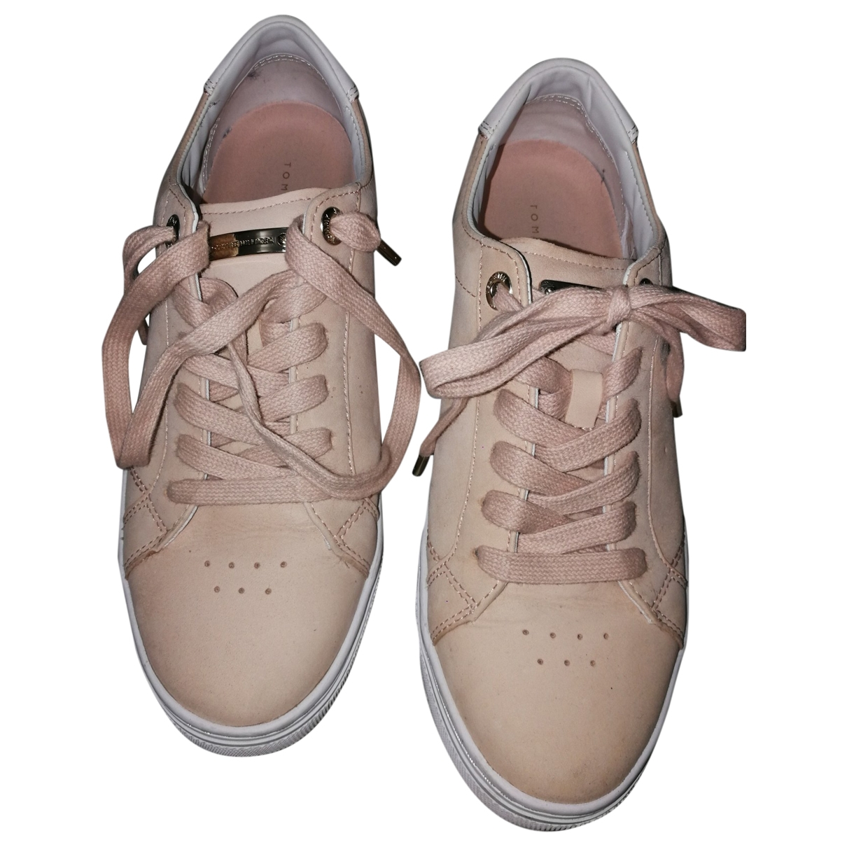 Tommy Hilfiger \N Pink Suede Trainers for Women 39 EU