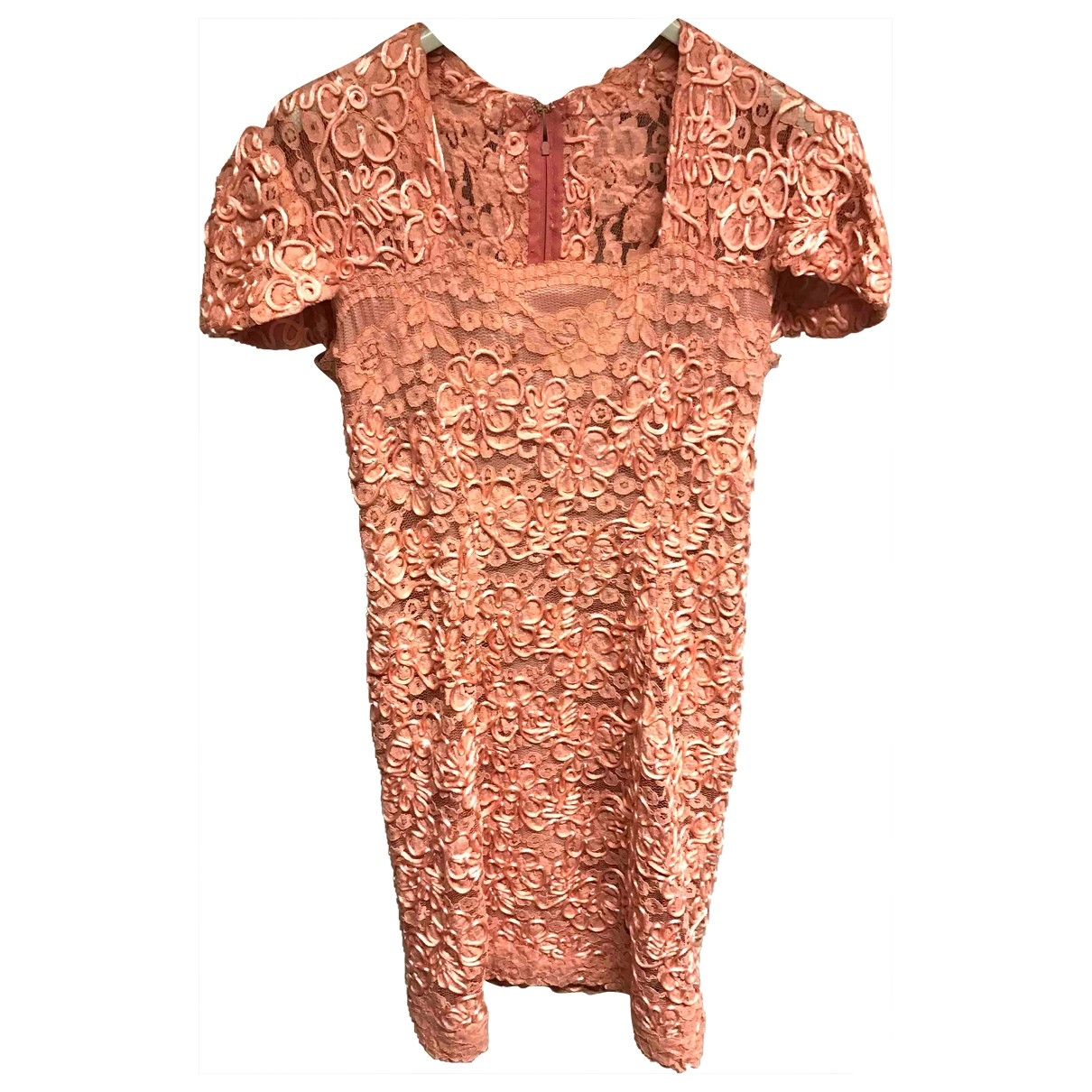 Non Signe / Unsigned \N Kleid in  Rosa Spitze