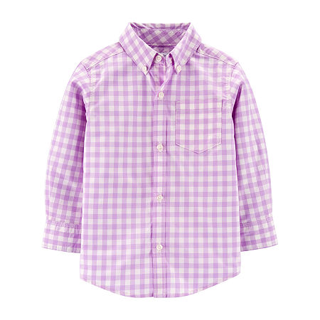 Carter's Toddler Boys Long Sleeve Button-Down Shirt, 4t , Multiple Colors