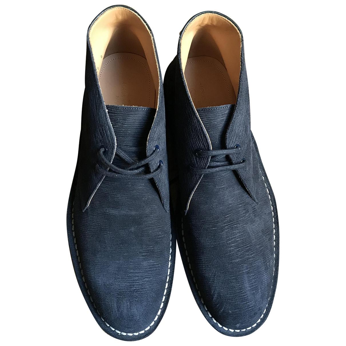 Louis Vuitton - Bottes.Boots   pour homme en suede - marine