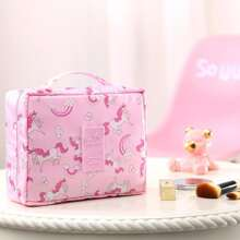 Unicorn Print Cosmetic Storage Bag