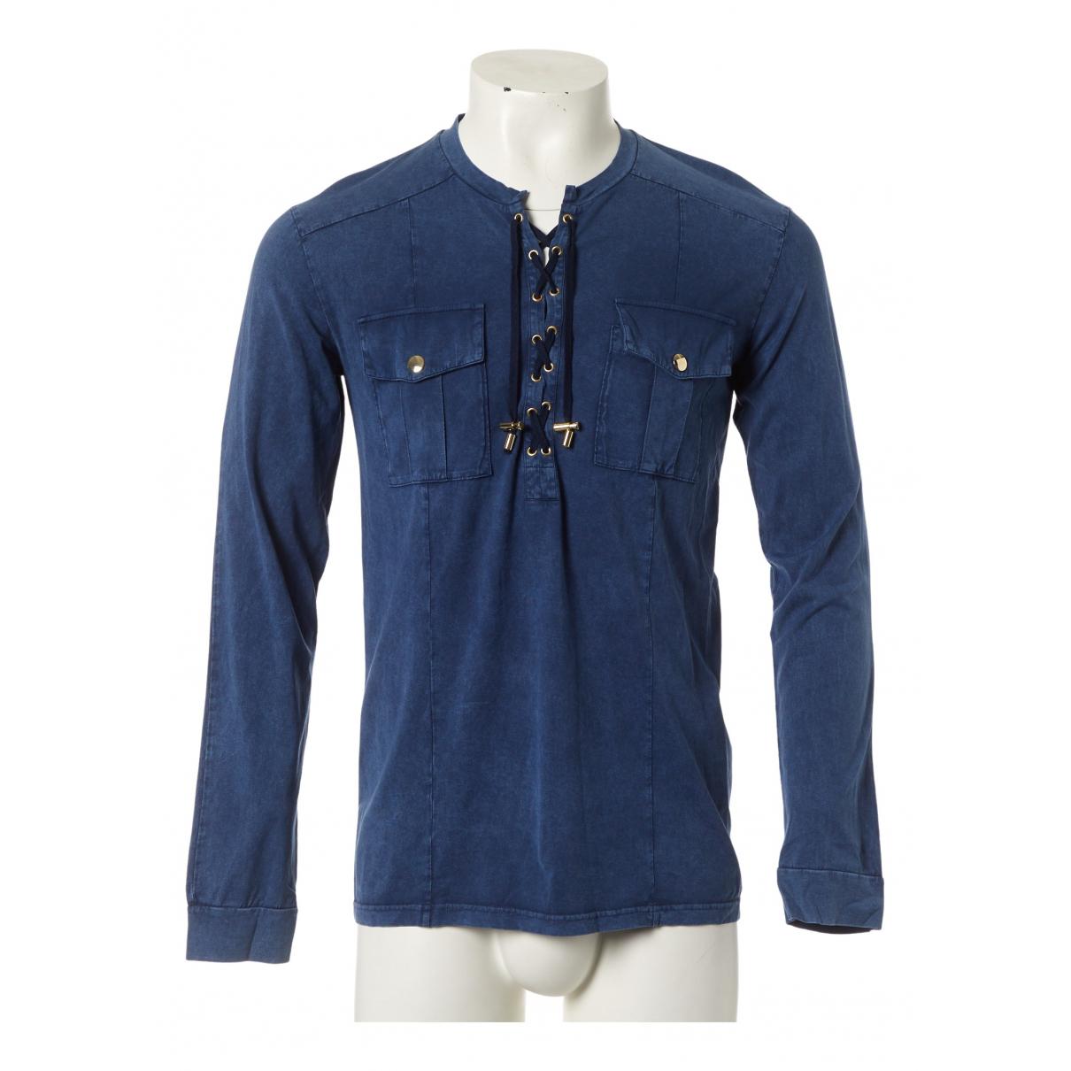 Balmain \N Blue Cotton T-shirts for Men M International