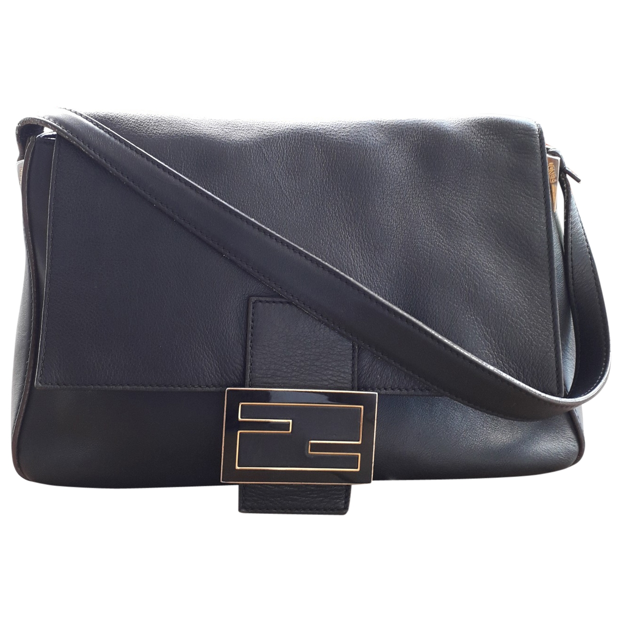 Fendi Mamma Baguette  Black Leather handbag for Women \N