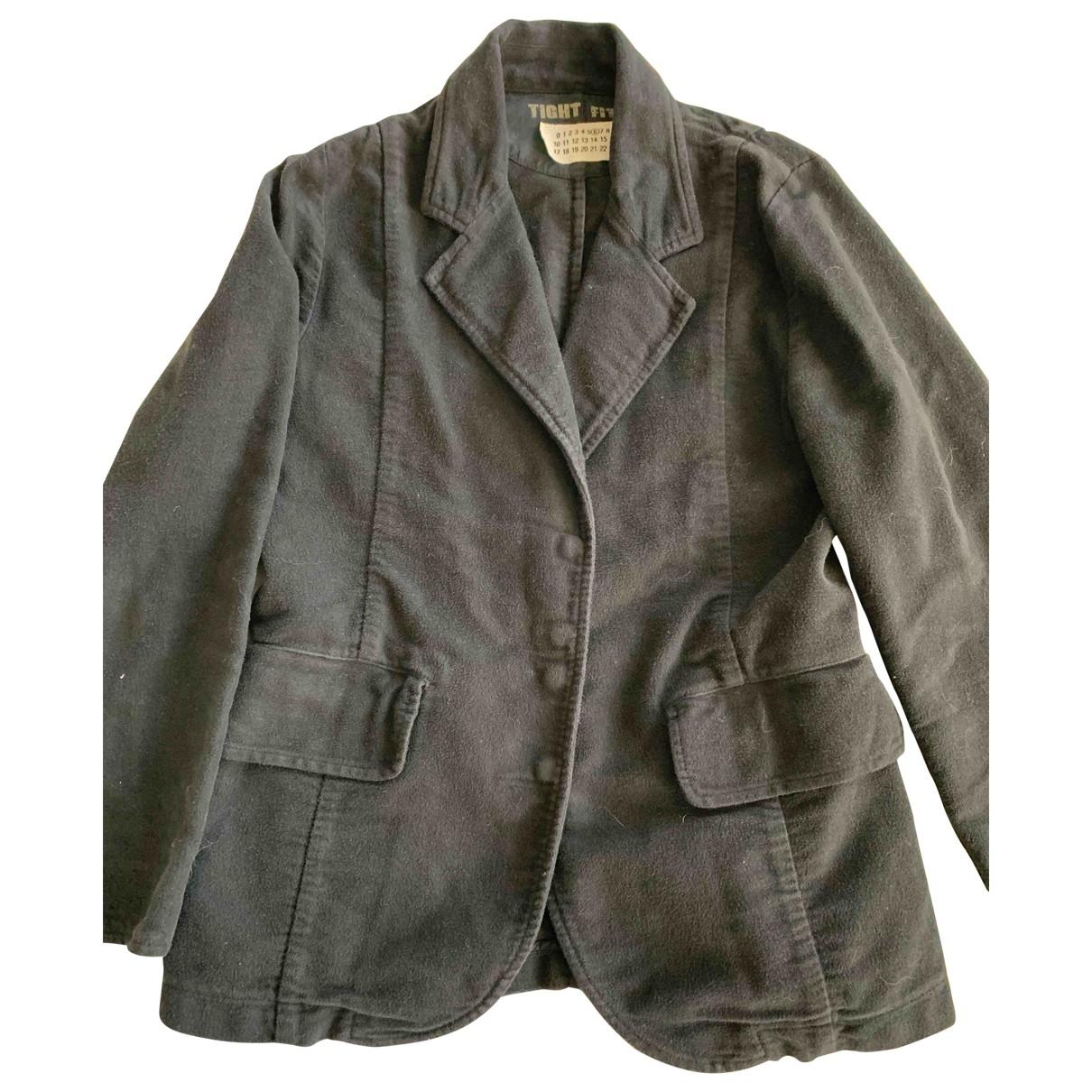 Mm6 - Veste   pour femme en coton - noir