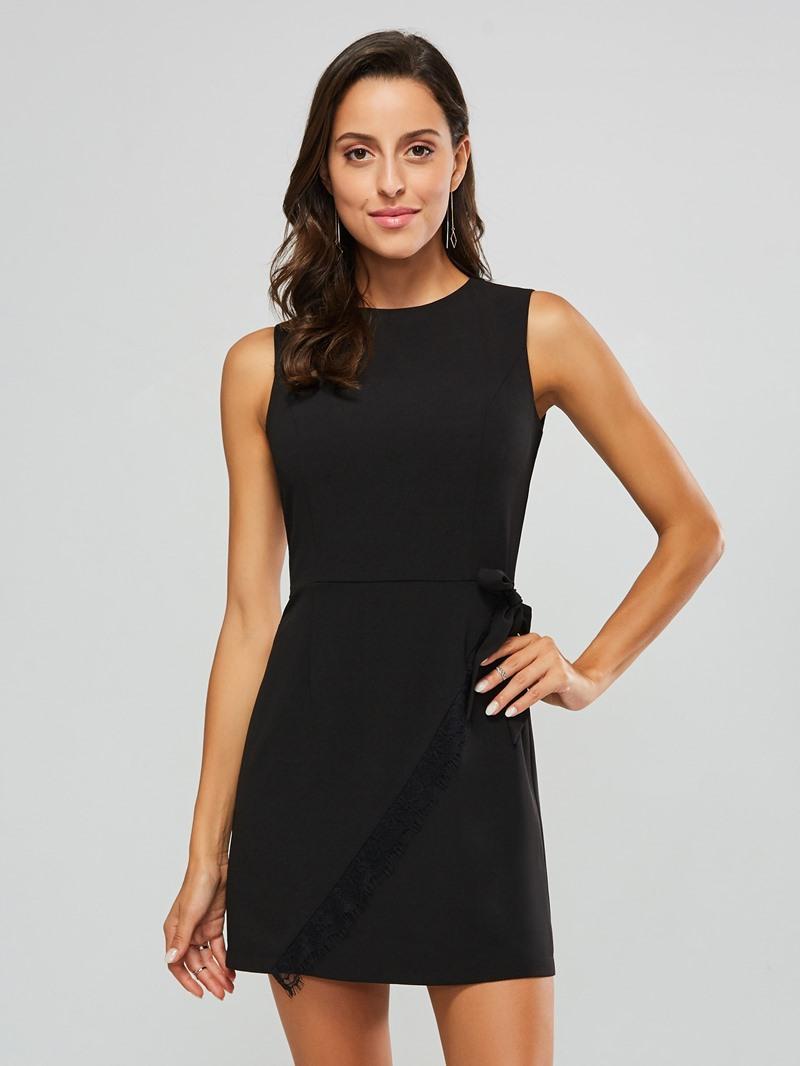 Ericdress Sleeveless Above Knee Lace-Up Regular Pullover Dress
