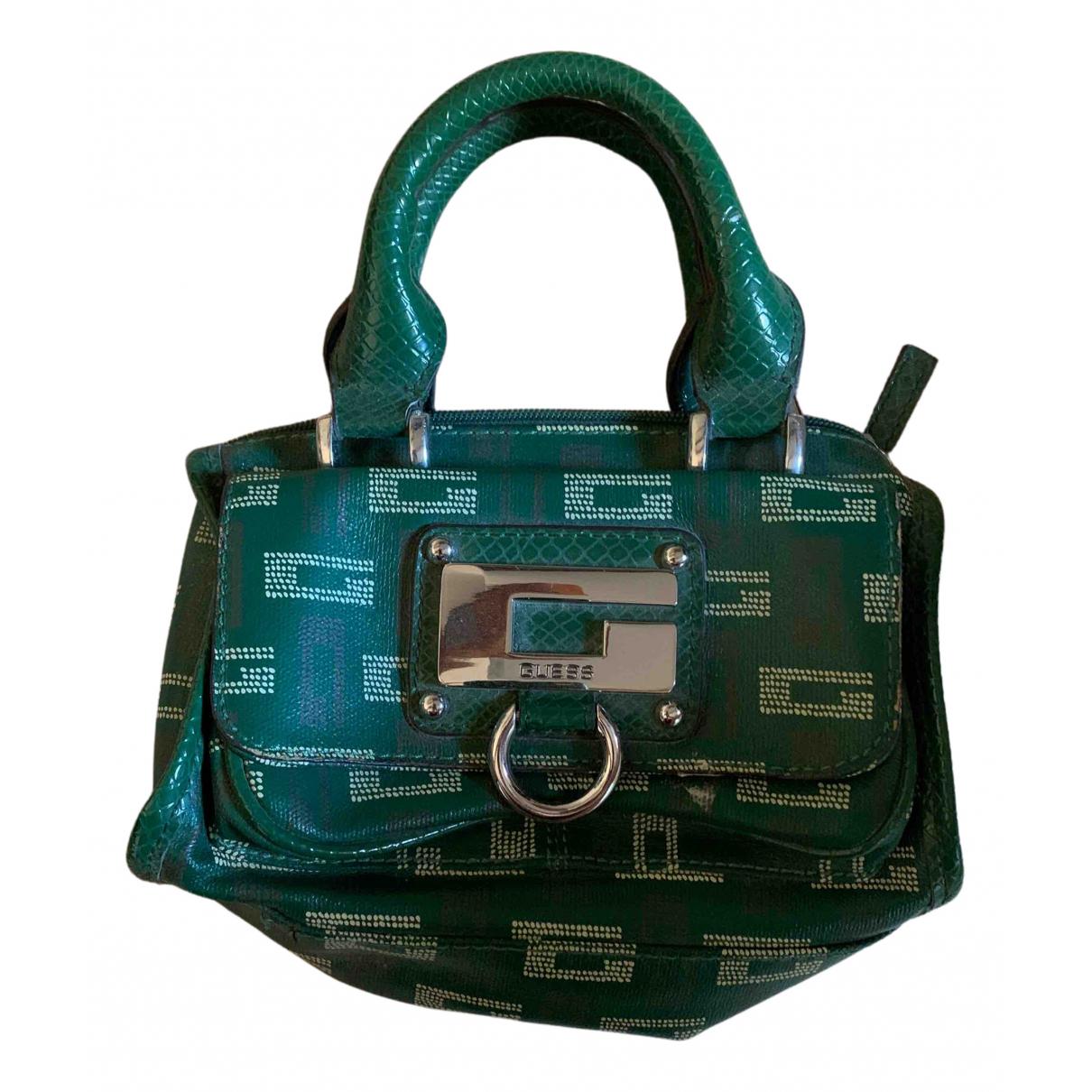 Guess \N Green Leather handbag for Women \N